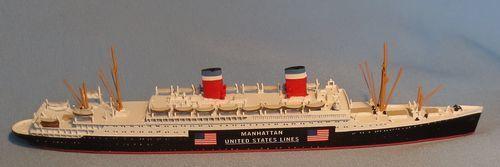 Cm navire 1 1250 USA PAQUEBOT  Manhattan  cm 225 A Nouveauté