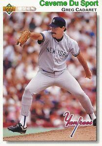 412 Greg Cadaret New York Yankees Baseball Card Upper Deck 1992 Yvaoc7yb-08013115-488374593
