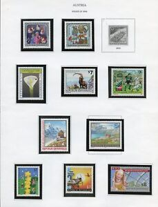 AUSTRIA-LOT-OF-MOSTLY-2001-STAMPS-amp-SHEETS-MINT-NH-FACE-VALUE-731-SCHILLINGS