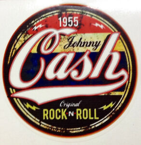 KUSTOM FACTORY Targa in metallo Johnny Cash Rock NRoll Attitude