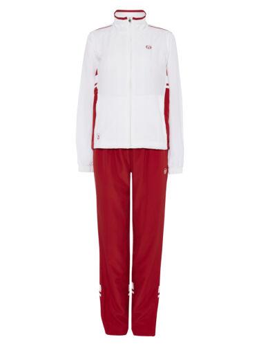 Red pants White Top Sergio Tacchini Ladies Tracksuit ZINESTA