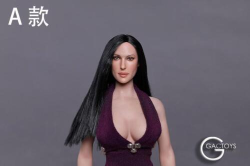 """1//6 Female Head Sculpt GC020 A B C D pour 12/"""" Phicen Hot Toys figure"""