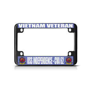 Vietnam Veteran Uss Independence Cva 62 Black Motorcycle