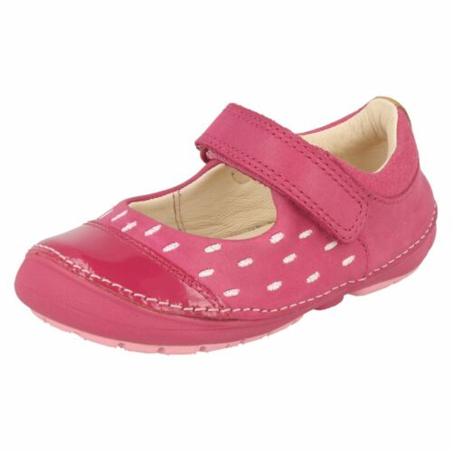 Clarks Softly Lou Première Chaussure en cuir rose