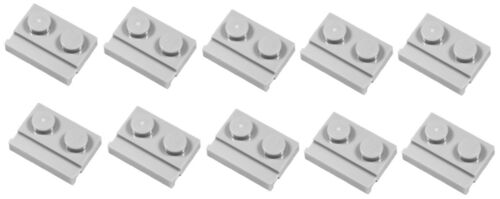32028 NEW Lego 10x Light Bluish Grey Plate Modified 1x2 with Door Rail