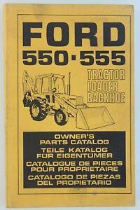 Catalogue Pièces Tracteur Ford 550 555 Tractor Loader Backhoe Tractor Traktor Ebay
