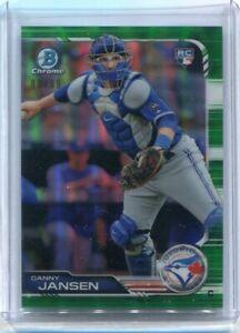 2019 Bowman Chrome DANNY JANSEN RC Green #/99 - Toronto Blue Jays
