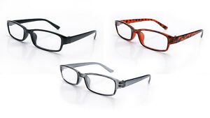 Reading-Glasses-3-Mix-Packs-Mens-Womens-UV-Reader-Trendy-Designer-Spring-Geek