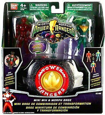 Mighty Morphin Power Rangers mini MIX /& Morph base W Red /& Green Ranger 2009 NEUF
