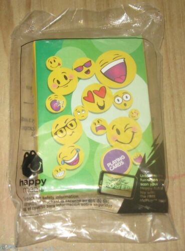 2016 Emoji McDonalds Happy Meal Plush Toy Deck of Playing Cards