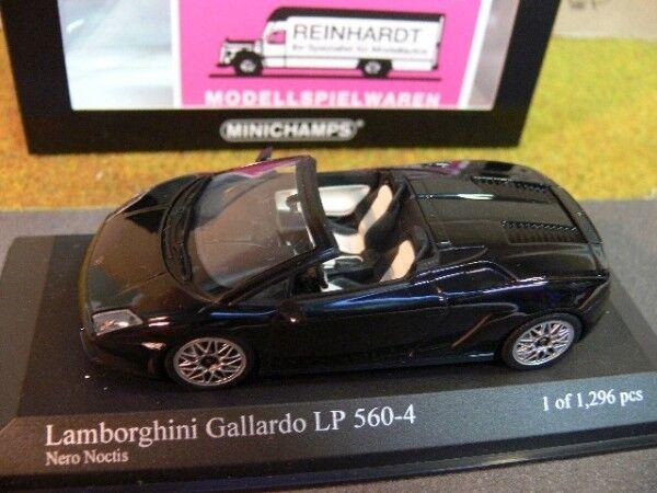 Minichamps LAMBORGHINI GALLARDO lp560-4 SPYDER 2009 Nero