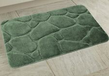 """1 Piece Hotel Collection Oversized River rock Bath Mat 24""""x""""39 (Sage Green)"""