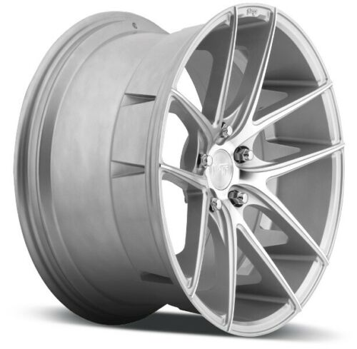 1 18x8 Niche Wheels M131 Targa 5x114.3 ET40 Silver /& Machined Wheel