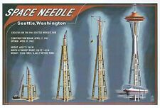 Space Needle Construction Timeline Seattle Washington Monorail - Modern Postcard