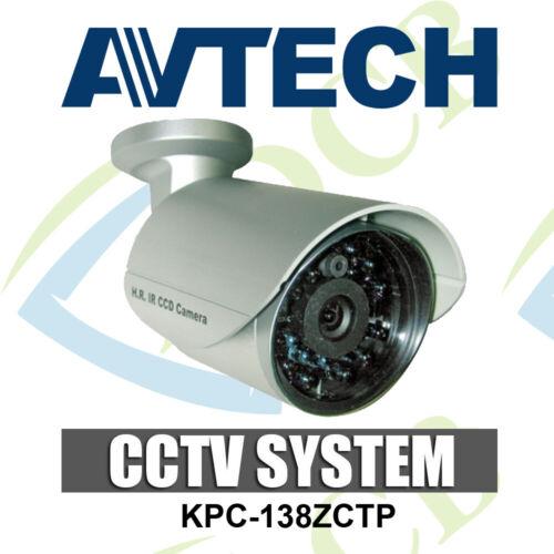 AVTECH KPC-138ZCTP 500TVL CCTV Security Bullet Outdoor Night Vision Camera