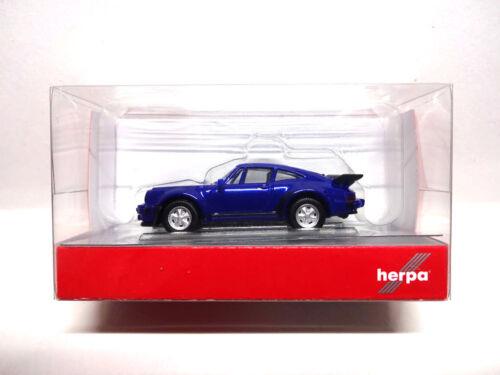 Herpa 030601-002 PORSCHE 911 TURBO BLU METALLIZZATO 1:87 NUOVO