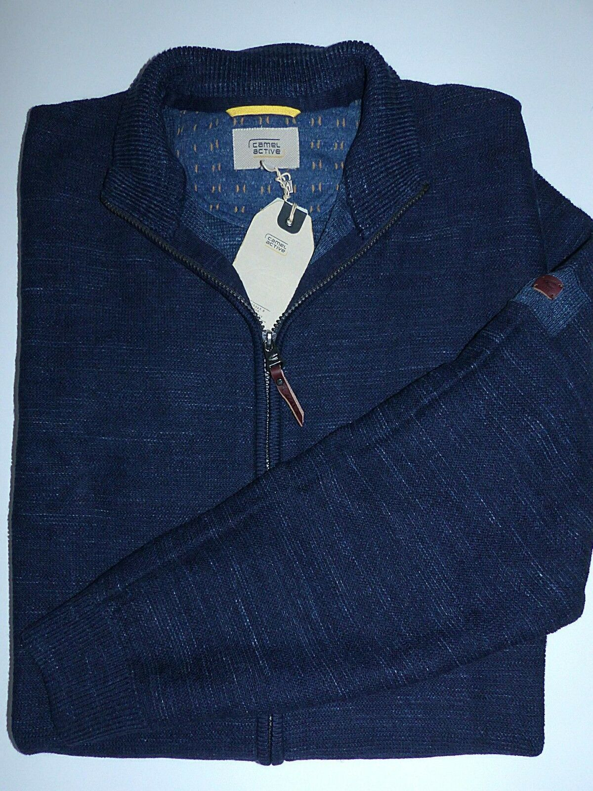 CAMEL Active Uomo Giacca In Maglia Cardigan-blu Cardigan-blu Cardigan-blu dimensioni 2xl 3xl NUOVO UVP 129,95 2f796d