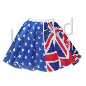 Ladies-17-034-Australiano-Bandiera-Gonna-OLYMPIC-Scuola-Mondo-Bandiera-Australia-Anzac-Day