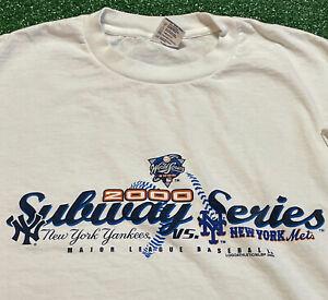 Yankees Mets Subway Series T Shirt Mens XL Adult White MLB Baseball World Series