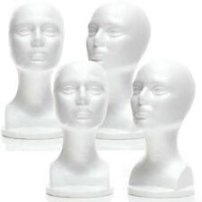 Less Than Perfect Mn 434 Ltp 4 Pcs Female Styrofoam Mannequin Head With Long Neck