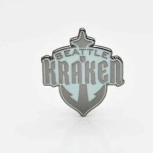 """NHL Seattle Kraken """"Emblem Anchor"""" pin, badge, lapel ..."""