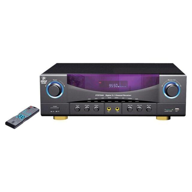 PT570AU 5.1 channel 350 Watts Build-In Radio USB SD Amplifier Receiver Amp