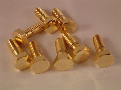 """Sechskant Schraube M12x16 GOLD /""""clean/"""" vergoldet M12"""