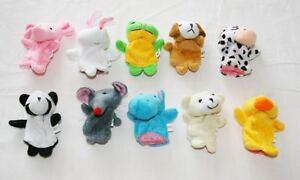 Farm Animals Finger Puppets Bundle Creative Story Fairy Tales Soft Toys