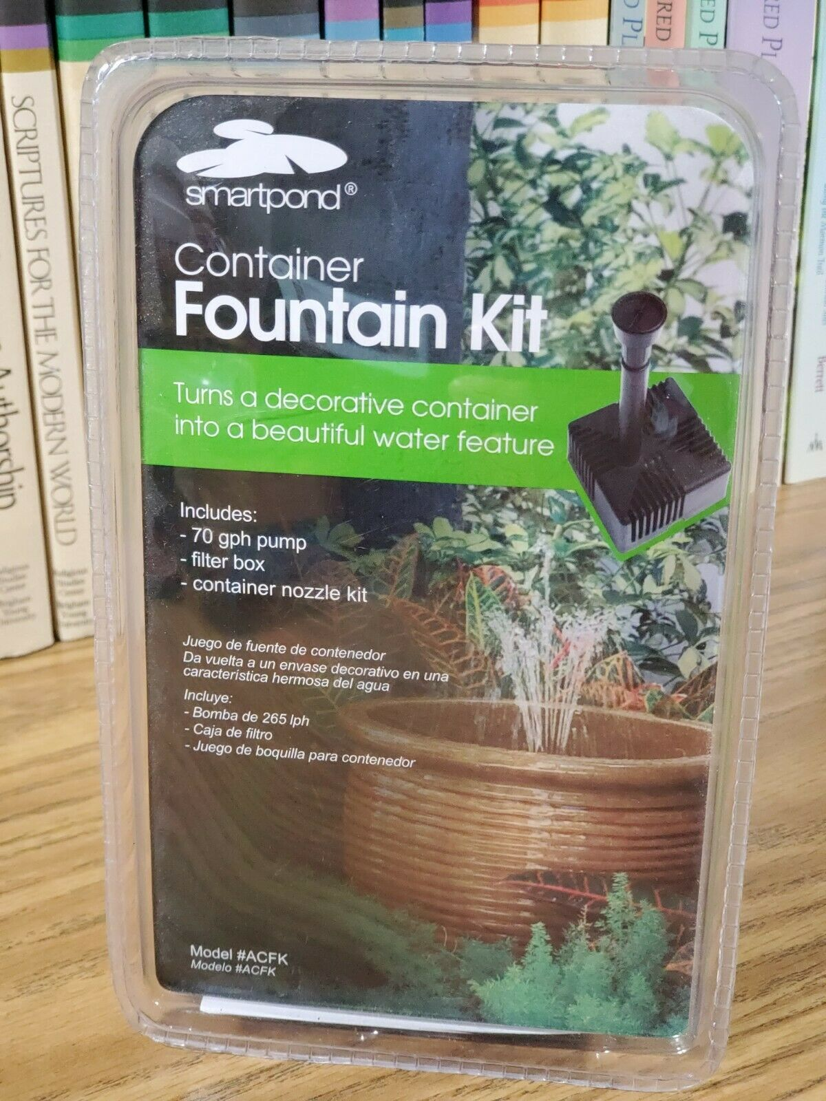 smartpond Container Fountain Kit w 70 GPH pump, filter box, container nozzle kit