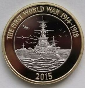 2015-First-world-war-Royal-navy-very-rare-two-pound-UNCIRCULATED-COIN