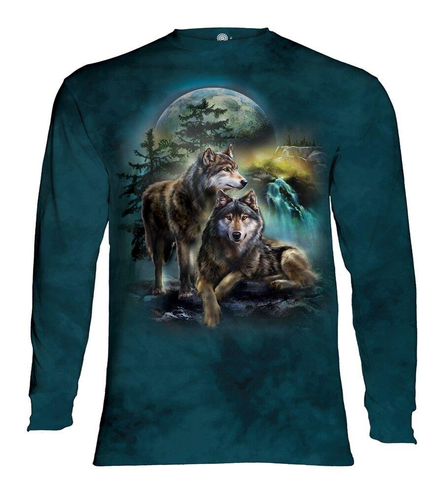 La La La MONTAGNA Adulto Lupo PALO Animale Maniche Lunghe T Shirt aa208f