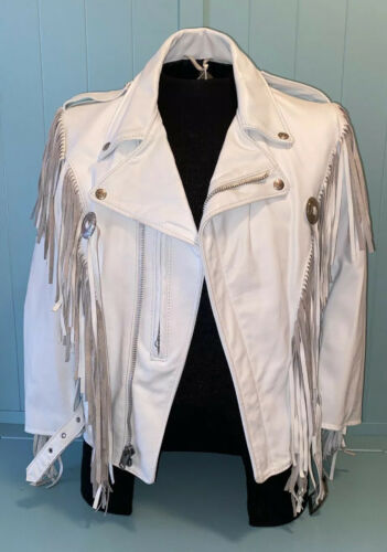 Schott NYC Dur-O-Jac Motorcycle Fringe Conch Leath