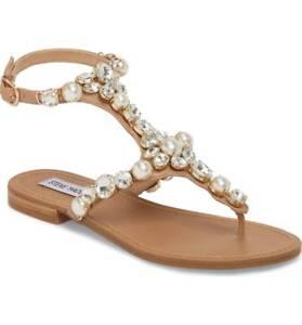 a8ff677b7ac1 NIB Steve Madden Women s Chantel Crystal Embellished Sandals in ...