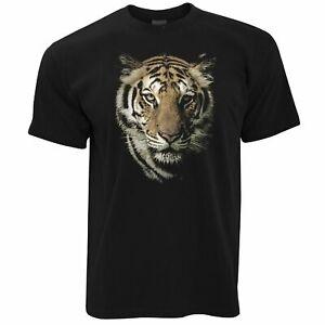 Mens-Wildlife-Tiger-Face-T-Shirt-Majestic-Big-Cat-Head-Wild-Animal-Photo-Tshirt