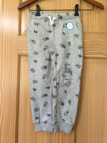 NWT Carter/'s Boys Pull on Pants Sweatpants Gray Bugs