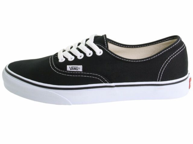 558fa669c78 VANS Authentic Women US 7 Black SNEAKERS Pre Owned 1166 for sale ...