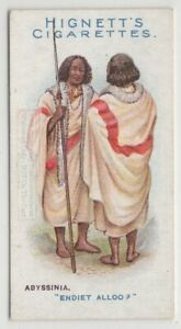 Abyssinia-Native-Men-Greeting-Clothing-Fashions-100-Y-O-Trade-Ad-Card