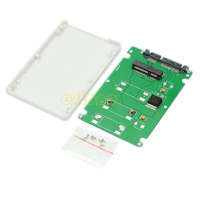 "HOT! 50mm mini PCI-E mSATA SSD to 7mm 2.5"" SATA 22pin Hard Disk Case Enclosure"