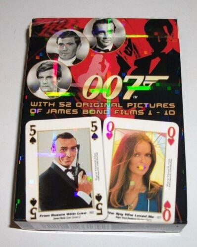 James Bond 007 películas 1-10 Coleccionable jugando a las cartas totalmente Nuevo Libre P/&P