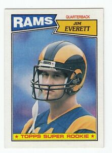 Jim Everett  1987 Topps NFL Football Trading Super Rookie Card # 145