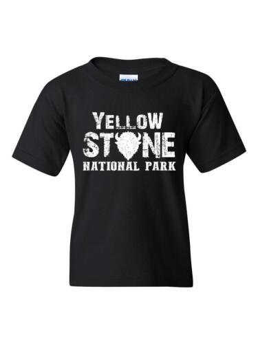 Yellowstone T-Shirt Fishing Hiking Camping in Wyoming  Youth/&Kids T-Shirt