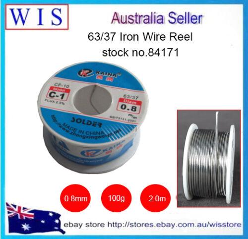 0.8mm 100g63//37 TinLead Solid Rosin Core Flux Solder Soldering Wire Roll Welding