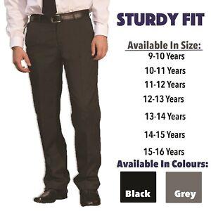 Boys-Sturdy-Fit-School-Trousers-Plus-Size-Half-Elasticated-Generous