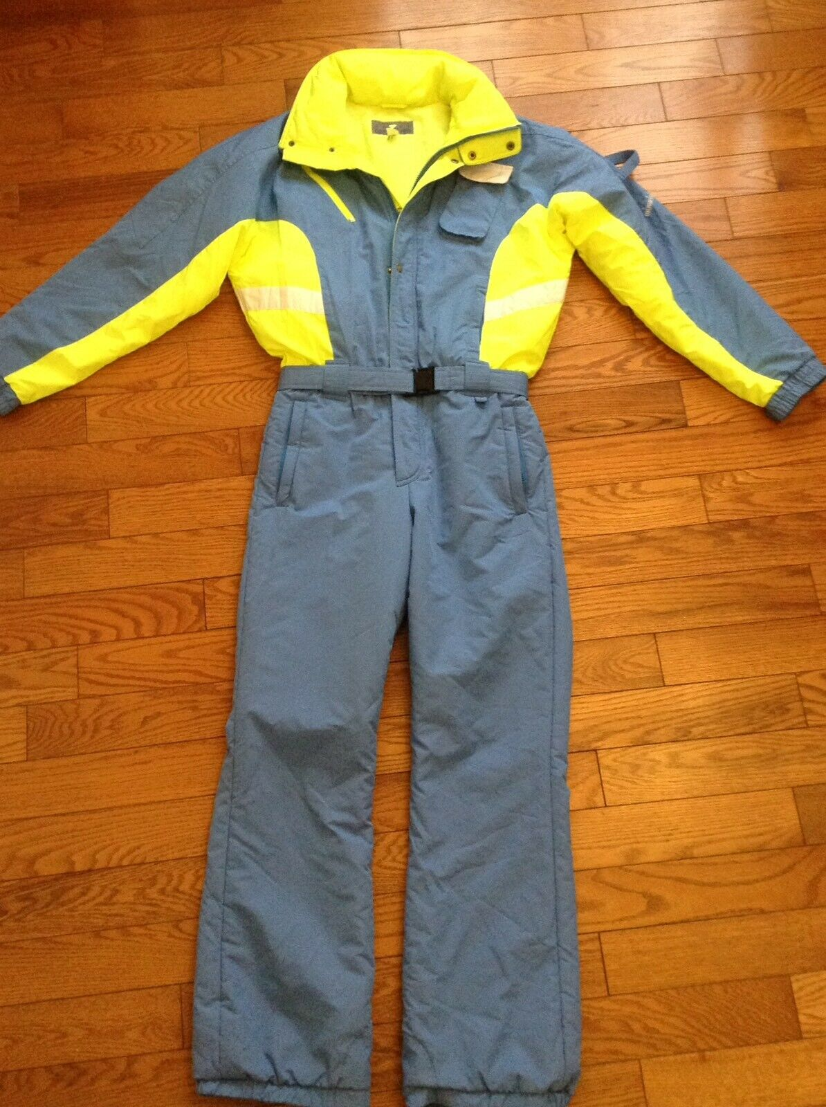 Obermeyer Sport VTG '70's Men's Sz Med Chaser  EUC Ski Snow Suit bluee Neon Yellow  lowest whole network