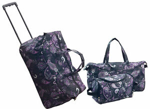 Trendy Duffel Bag, Tote and Toiletry Bag Luggage Set - 3 Pieces