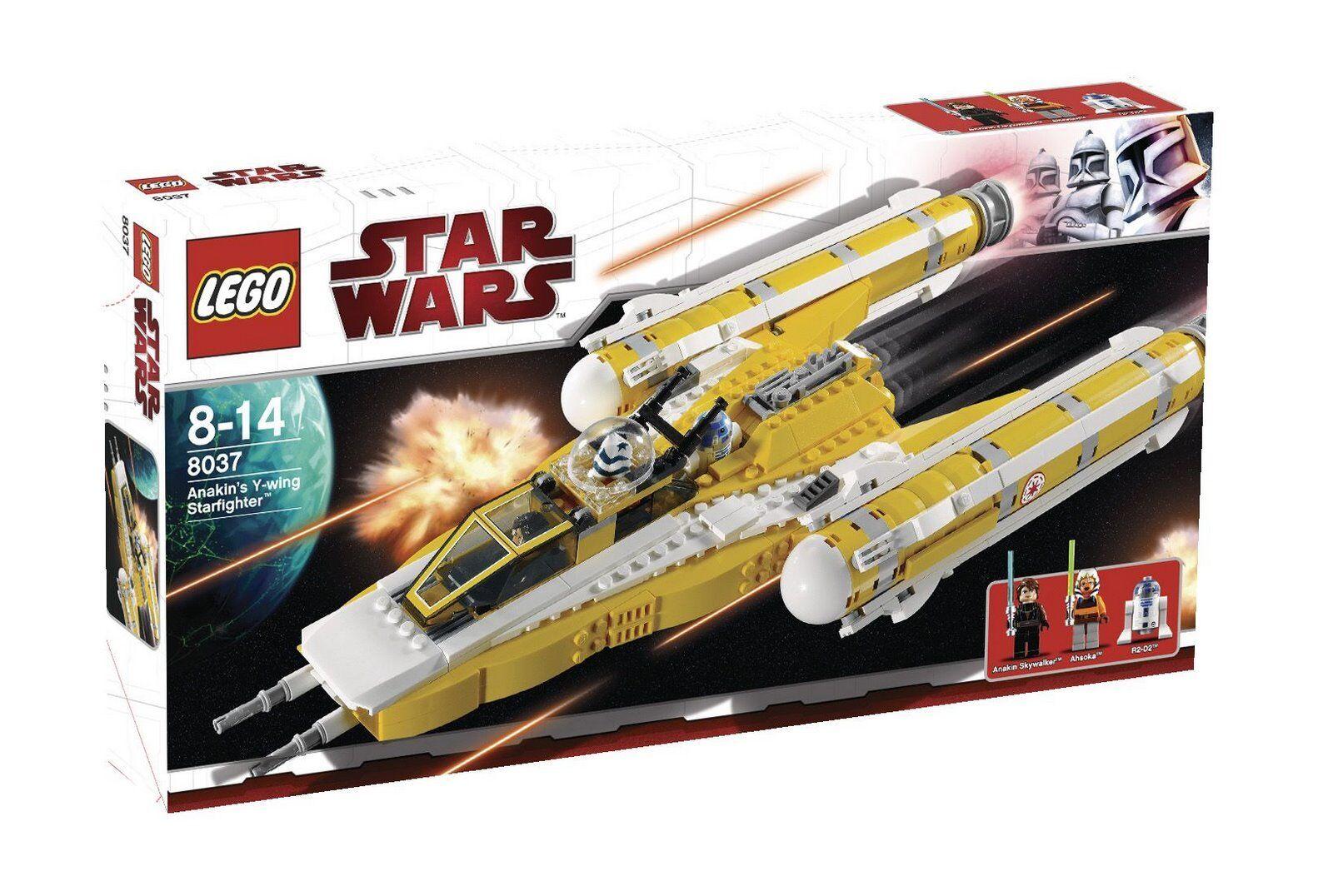 Nuevo Lego Star Wars Anakin Y-Wing Starfighter 8037 Ligeramente Dentado