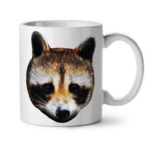 Cute Animal Racoon Face NEW White Tea Coffee Mug 11 oz | Wellcoda