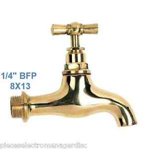 "Robinet Laiton poli filetage Male 8x13 1 4"" pour fontaine petit"