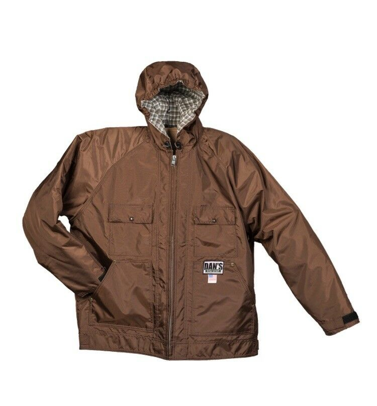 Dan's Sportsman's Choice Hooded Briarproof Waterproof Coat Size XL