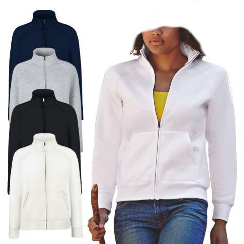 Damen Sweatjacke Fruit of the Loom Premium Sweat Jacket Lady-Fit NEU